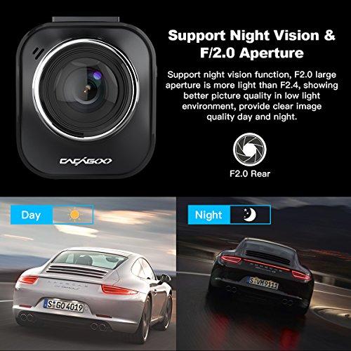 """51leh3Dv71L - CACAGOO Dashcam Cámara de Coche 2.7""""TFT LCD HD Car DVR 1080p H.264 Gran Angular 150° Sony IMX 323 Sensor detección de Movimiento Loop Recording visión Nocturna G-Sensor (170°)"""