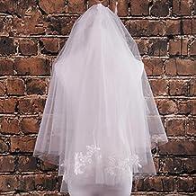 VEIL velo de novia codo largo bordados de encaje y el peine?capa 2