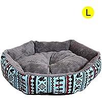 Killypo Cama de Perros Y Gatos Cómodo Interior Mascotas Nido Desmontable Y Lavable Redondo Amortiguador de
