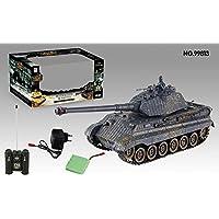 S de Idea® 01661Battle tanque 1: 28con sistema de infrarrojos Lucha 2.4GHz RC R/C teledirigido, Tank, cadena Vehículo, IR Función de tiro, sonido, luz, nuevo, 1: 24, sonido de disparo, iluminación