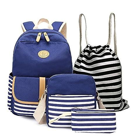 4 Teile Set Causal Rucksack Freizeitrucksack Daypacks Backpack, Rucksack Schule/Schulranzen