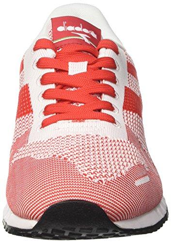 De Blanquecino Deporte bianco Armadura Hombre Rosso Bianco Bajo Diadora Zapatillas Titan txTHqpC
