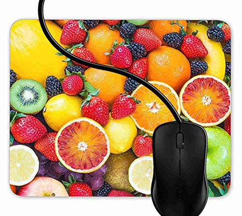 Mauspad Frisches Obst Gesundes Essen Vitamin Rutschfeste Gummi Basis Mouse pad, Gaming mauspad für Laptop, Computer 1F2608 -