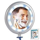 MK 12 LED light 6'' diameter Fogless shower mirror