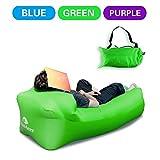 Aufblasbares Sofa DasMeer Aufblasbare Liege Air integriertem Kissen Couch Stuhl, tragbare Kompression Air Tasche für Sommer Camping Strand Pool (Grün)