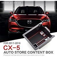LFOTPP CX-5 Handschuhfach Armlehne Aufbewahrungsbox Center Console Armrest Storage Box Innen Schwarz