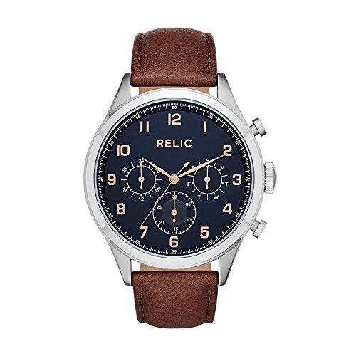 Reloj de hombre Relic Henry (ZR15884) de piel marrón