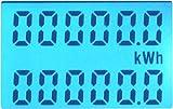 B+G E-Tech DRS255B - LCD digitaler Wechselstromzähler Stromzähler Wattmeter mit Tageszähler 5(50)A für Hutschiene mit S0 Schnittstelle 1000imp./kWh -