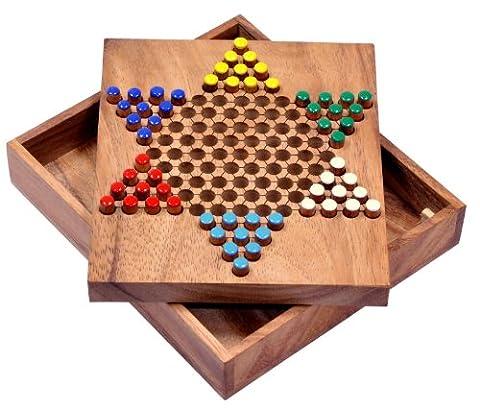 Halma Gr. S - Stern Halma - Chinese Checkers - Strategiespiel - Gesellschaftsspiel aus Holz