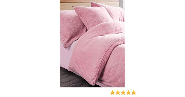 NZ Pink Teddy Fleece Pillow Case Pair