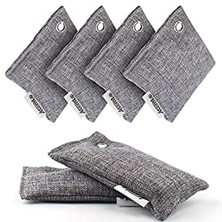 Air Purifying Bag, Atemto Car Airfreshers Upgrade Bamboo Charcoal Nature Fresh Air Purifier Bags for Car, Pantry, Closets, Shoes, Bathrooms and Pet Areas, Activated Charcoal Smell Removers(6 packs)