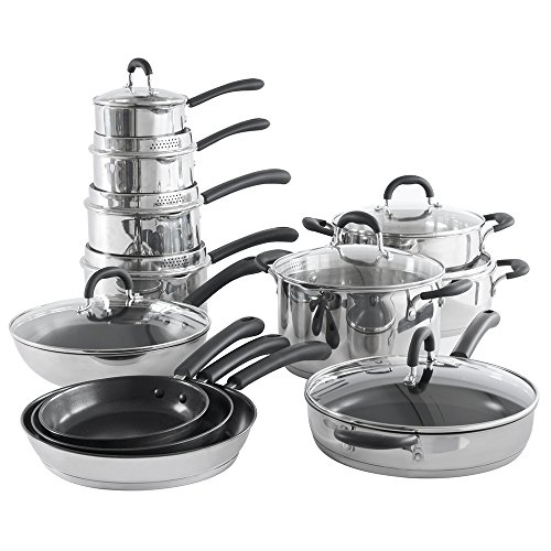 ProCook Gourmet Steel Induction Cookware Set 12 Piece