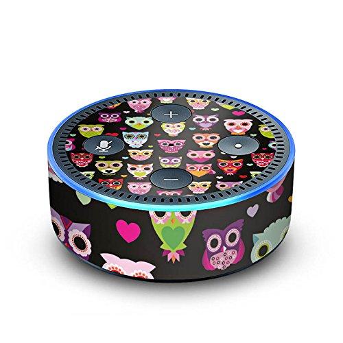 DeinDesign Amazon Echo Dot 2.Generation Folie Skin Sticker aus Vinyl-Folie Eulen Owl Pattern Muster