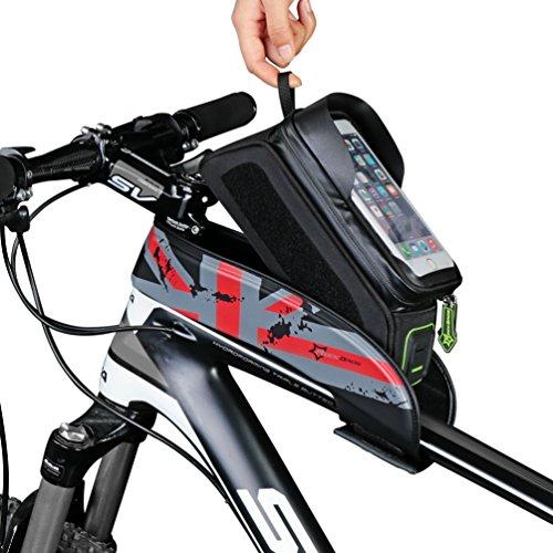 RockBros Fahrrad Rahmentaschen Wasserfeste Taschen Für Bild Schirm 5.8''/6.0'' Rot