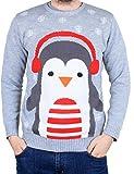 Weihnachtspullover Pinguin Kopfhörer