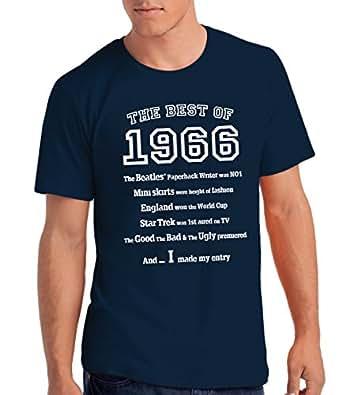 The Best of 1966 - T-shirt cadeau pour le 50e anniversaire - Hommes: Ny, S