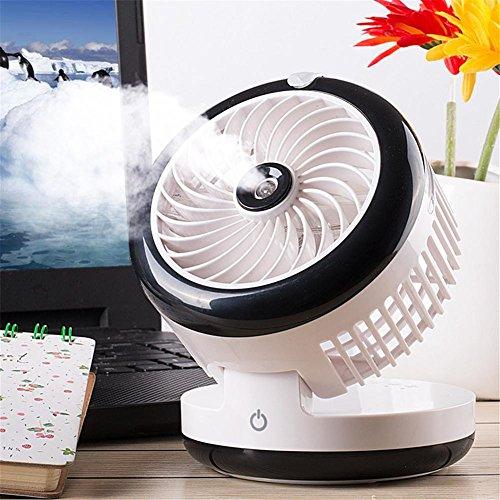 Ventilador portátil USB 2000mah mini ventilador recargable con ventilador de humidificación de...