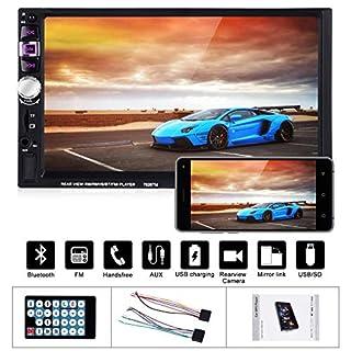 xgody 7026Doppel Din Auto BT Stereo Universal HD 17,8cm Touchscreen Auto Stereo-Empfänger und Multimedia Radio Entertainment unterstützt USB/TF/FM/Aux Eingang TV