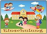Schule Einladungskarten zur Einschulung Schulanfang Einladung Schuleinführung Karten 10 Stück Schuleingang Schulbeginn