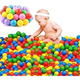 Pit Balls, Pack Of 20/50/100 Pcs Plastic Colorful Ocean Ball Pit Balls Creations Pool Ball For Tent Swim Toys Playground Games Pool (20 Pcs)