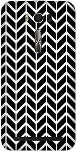 Black Ray Printed Back Cover Case For Asus ZENFONE 2 LASER ZE500KL