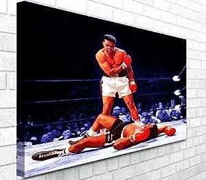 muhammad ali v sonny liston boxing leinwand kunstdruck auf rahmen bereit zum aufh ngen. Black Bedroom Furniture Sets. Home Design Ideas