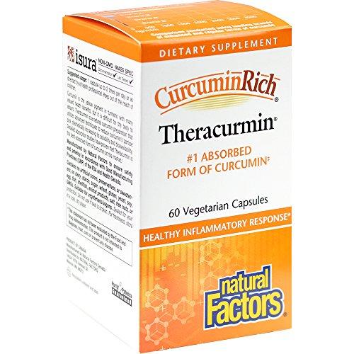 Natural Factors | Curcumin | Theracurmin | 60 vegane Kapseln | glutenfrei | sojafrei -