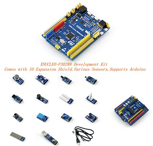 Venel Electronic Component, Xnucleo-F302R8 Package A Development Kit, Comes With IO Expansion Shield and Various Sensors, Compatible With Nucleo-F302R8, Onboard Cortex-M4 Microcontroller STM32F302R8T6 (Pc Build-tool-kit)
