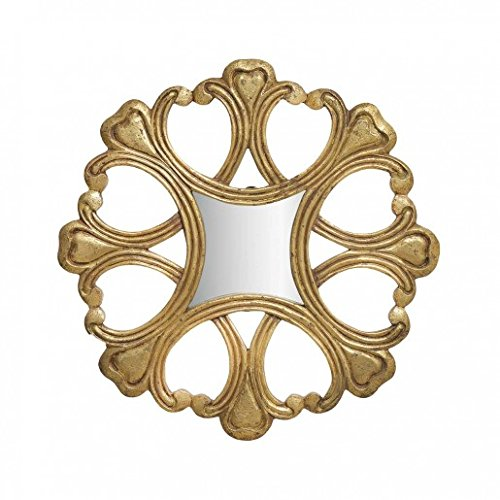 THE YELLOW DOOR oro antico Round Wall Art specchio