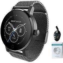 favourall Smart Watch per SMA-09, IP54 Impermeabile 1,3 Pollici Bluetooth Musica Riproduzione della frequenza cardiaca monitoraggio