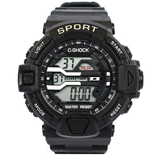 VITREND Digital C-Shock Light Display Men's and Women's Sports Watch (Random Colours)