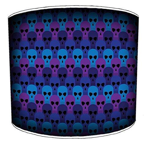 Pantalla de lámpara de techo de 20,3 cm con motivos de calaveras góticas, 30,5 cm