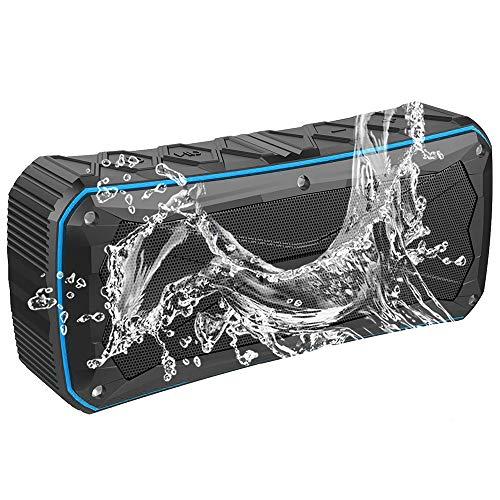 WLBRIGHT Outdoor IP6 Wasserdichter Bluetooth-Lautsprecher, Tragbare Karte Freisprecheinrichtung 20W Audio, Sport-Reiten Wasserdicht Audio,Blue (Akustik-wireless-lautsprecher)