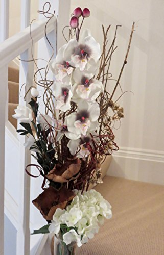 unique-design-cream-artificial-orchid-and-dried-flower-bouquet-85-cm-tall-no-vase