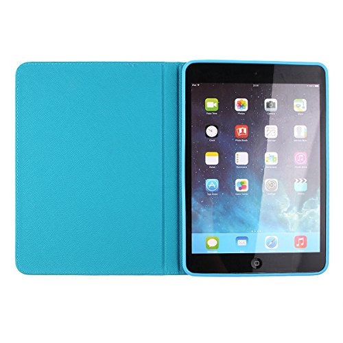 Ipad Mini Wallet Cover, Ipad Mini Flip Leather Case Back Cover,Ukayfe Stand Function PU Leather Case Premium Soft Slim Cover Bookstyle with Magnet Closure for Apple Ipad Mini /Ipad Mini 2 /Ipad Mini 3 cartone animato