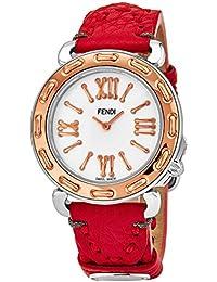 3e264525a3f9 Fendi Selleria Femme 35mm Bracelet Cuir Rouge Quartz Montre F8002345H0.SSK7