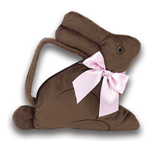 Bearington Baby Collection Cocoa Carrysome Bunny Hand Bag Purse with Pink Bow & Chocolate Scent (Bag Bow Purse)