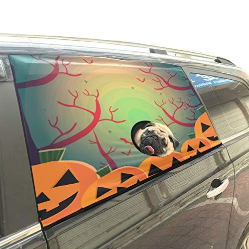 bis Spuk Baum Nacht Faltbare Hund Sicherheit Auto Gedruckt Fenster Zaun Vorhang Barrieren Protector Für Baby Kind Einstellbare Flexible Sonnenschutz Abdeckung Universal Fit Für SUV ()