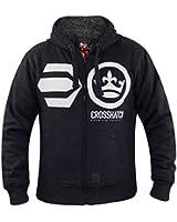 Crosshatch Brayburn Mens Hoodie Long Sleeved Hoody Zip Up Sherpa Lined Jacket