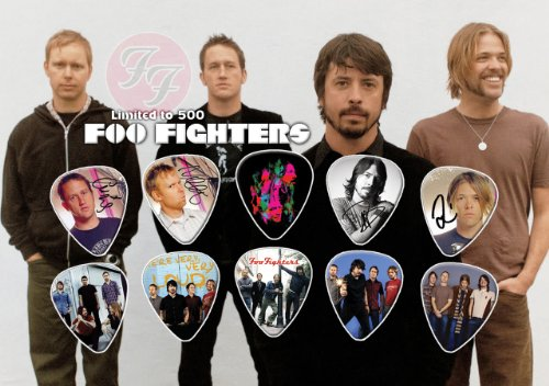 Foo Fighters Chitarra Pick Plettri Display Limited 500 Only