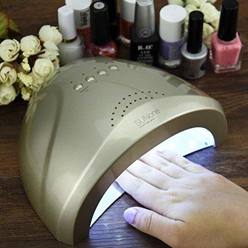 Luft-therapie-spray (WANGXN Nagel LED Licht Therapie Maschine 48W Licht Therapie Lampe Sonnenschein Augenschutz LED + UV Timing 5S, 30S, 60S, Black)