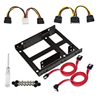 """Awtang SSD To 3.5"""" Internal Hard Drive Mounting Kit Bracket 2X 2.5 exceptional well-matched normal special"""