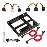 Alian Rahmen für Schallplattenspieler/SD 2,5 Zoll mit Adapterblende 3,5,Rahmen zur Montage auf der Scheibe Innen, mit Stangen, Viti, Kabel und Netzadapter.