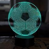 LED Deko Lampe Fußball - Elbeffekt - Fußball Kinder Deko - Fußball Lampe Kinderzimmer Geschenk Fussball