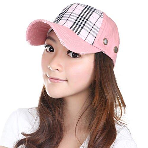 Chapeau coréen féminin/Casquette de baseball/Ladies Plaid sports de plein air/Chapeau de soleil/Hip-hop Cap B