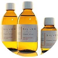 Preisvergleich für PureSilverH2O 600ml Kolloidales Silber (2x 250ml/25ppm) + Flasche (100ml/50ppm) Reinheit & Qualität seit 2012