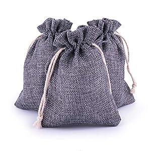 Adventskalender zum Befüllen 24 Jutebeutel grau Geschenksäckchen Stoffbeutel Weihnachten, Weihnachtskalender Bastelset von pajoma
