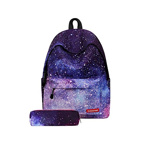 aefa6e3dfbdb Mr. Xiong School Backpack, Unisex Galaxy Pattern Vintage Style Fashion  Casual School Rucksack Bag for Schooling Picnic Traveling for Girls Boys ...