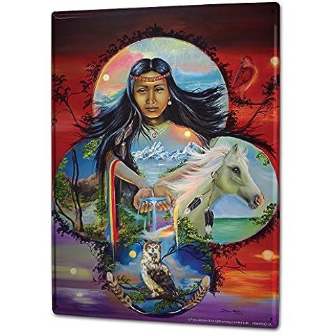 Cartello Targa in Metallo XXL USA Native