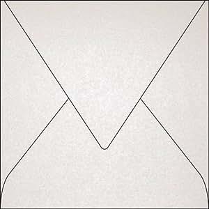 Clairefontaine 50038C Enveloppe Pollen 14 x 14 cm 120g paquet de 20 Blanc irisé
